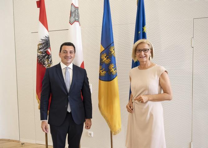 Arbeitsgespräch von LH Mikl-Leitner mit Umweltminister von Malta